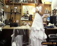 Sexy Amateur Blonde Babe Pawns Her Wedding Gown And Pounded