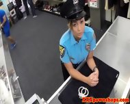 Latina Policewoman Facialed For Cash