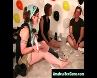 Amateur Bisexual Girls Getting Jiggy At Sex Party