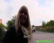 Young Eurobabe Jizzed On Tits In Car