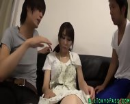 Asian Babe Gets Creampied