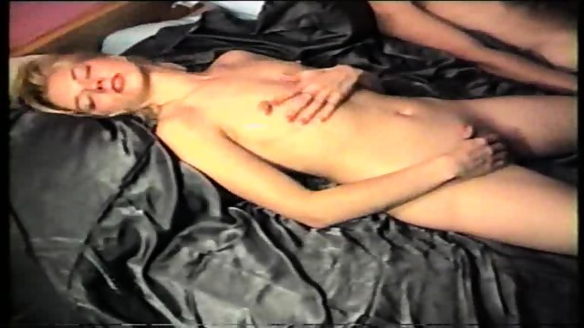 masturbating after sex, cum on her breasts