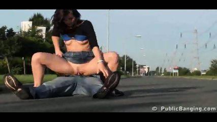 Street Sex couple fucking right on the street - scene 6