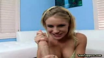 This hot blonde sensually plays with a long hard cock - scene 2