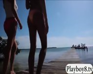 Badass Hot Babes Topless Jetski Action At Local Regatta