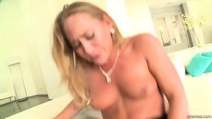 Horny Blonde Girl With Cum In Cunt - scene 8