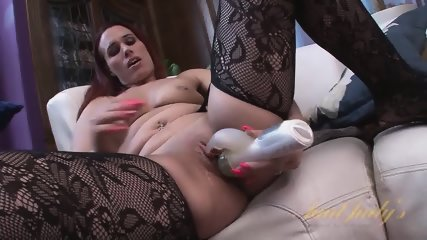 Redhead Mom Plays With Toys