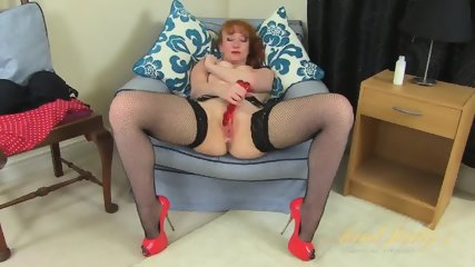 Vintage Redhead Plays With Toys