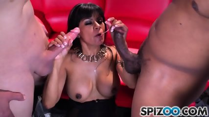Horny Slut And Two Cocks - scene 4
