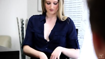 Horny Blonde Seduces Her Boss - scene 1