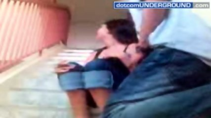 This couple enjoy an outside quickie - scene 1