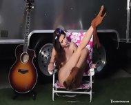 Sexy Musician Girl Shows Body - scene 11