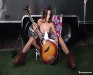 Sexy Musician Girl Shows Body - scene 12