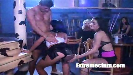 CFNM Stripper gets cock sucked in full public view - scene 7