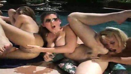 Lesbian pool cleaning - scene 8