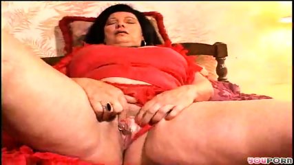 Granny fingers her pussy for you - scene 5