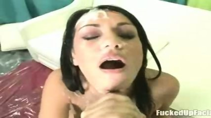 Sexy brunette receives two INSANE cumshots !!! - scene 11