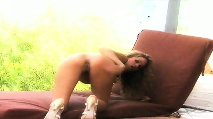 Prinzzess Teases Her Shaved Pussy - scene 6
