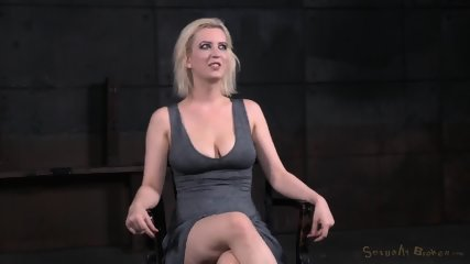 Tied Blonde Plays With Black Dick - scene 11