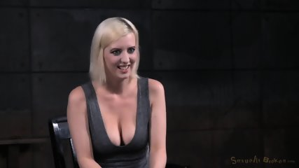 Tied Blonde Plays With Black Dick - scene 12