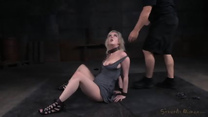 Tied Blonde Plays With Black Dick - scene 6