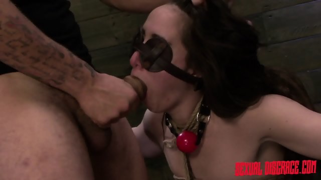Brunette Gets Tied And Fucked Like A Slave