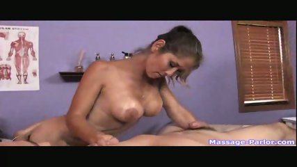 A regular massage turned into a hot handjob - scene 12