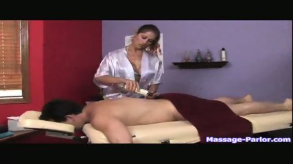 A regular massage turned into a hot handjob - scene 2