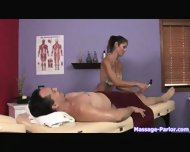 A regular massage turned into a hot handjob