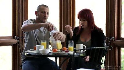Creampie After Hardcore Sex On Sofa - scene 3