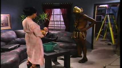Warrior gets sponge bathed by Geisha - scene 1