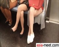Fuck From Asia-meet.com - Asian Legs On Train 5