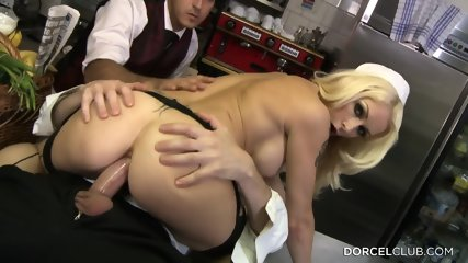 Sexy Blonde Ass Fucked In The Kitchen - scene 10