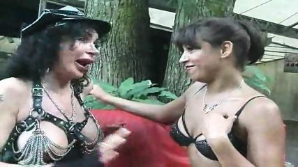 Horny mature goes lezzie with a MILF - scene 3