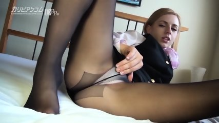 Cum On Torn Pantyhose