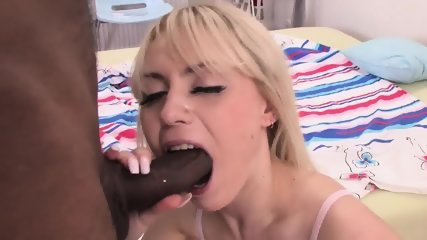 Black Penis In Petite Blonde - scene 12