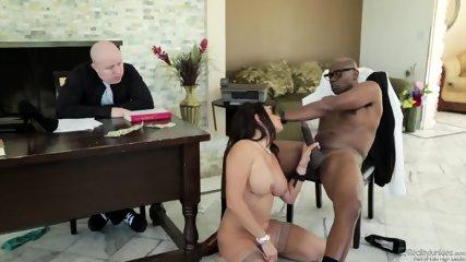 Huge Black Dick For Busty Coworker - scene 11