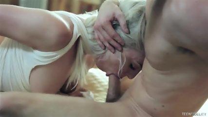 Cum In Wild Blonde's Pussy