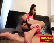 Young Thai Kathoey Rubs Her Butthole