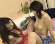 Japanese lesbian Rubbing - scene 2