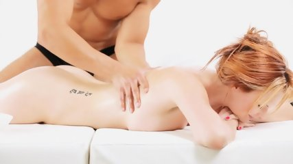 Sensual Massage For Blonde's Pussy - scene 1