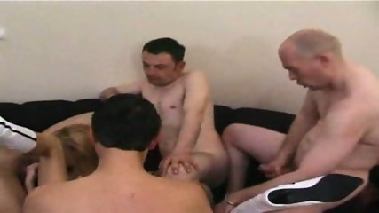 5 GUYS ALL OVER THIS AMATUER MILF - Pt. 2/6 - scene 8