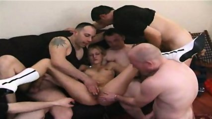 5 GUYS ALL OVER THIS AMATUER MILF - Pt. 2/6 - scene 7