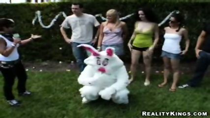 The Easter Bunny is fucking girls for cash - scene 2