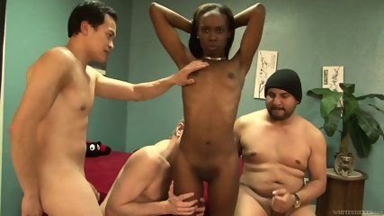 Three Dicks For Ebony Whore - scene 7