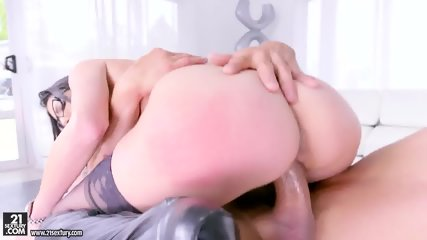 Sexy Lady With Glasses Loves Cock Riding - scene 8