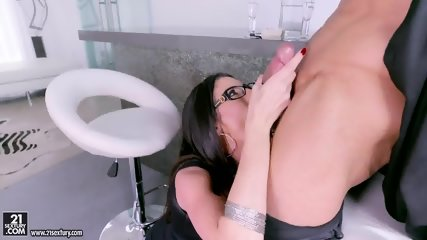 Sexy Lady With Glasses Loves Cock Riding - scene 3