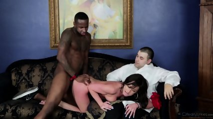 His Lady Gets Fucked By Black Cock