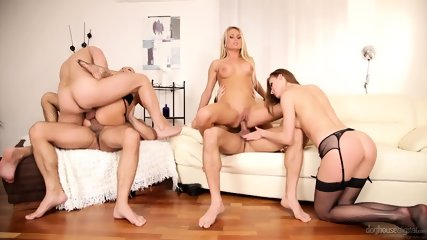 Orgy With Three Hot Babes