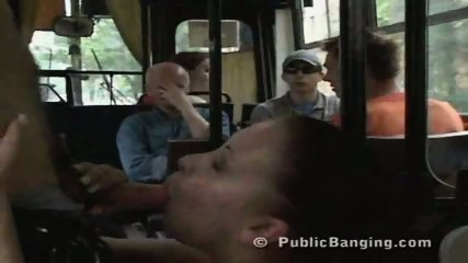 Public Sex In a City Bus - scene 2